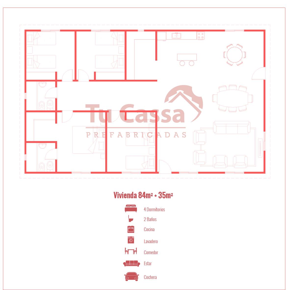 Vivienda 6 – 4 dormitorios